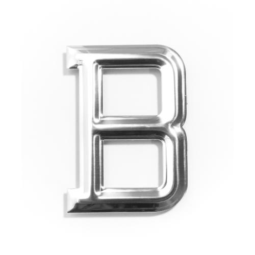 Cityart nameplate ป้ายอลูมิเนียม(ตัวอักษร B) SGB CHROME 6101