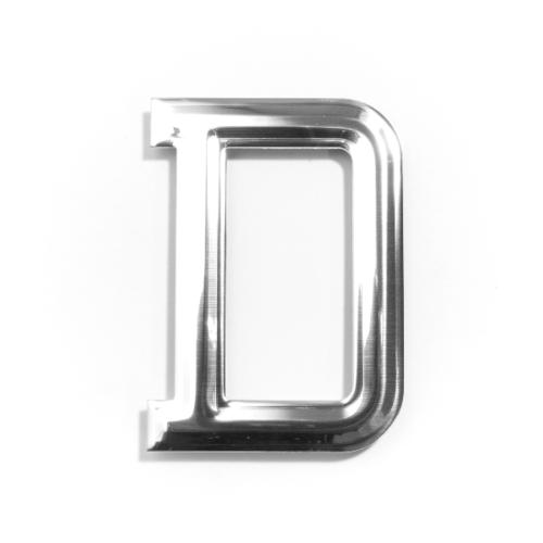 Cityart nameplate ป้ายอลูมิเนียม(ตัวอักษร D) SGB CHROME 6101-D