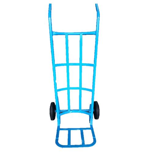 - รถเข็นตลาด  หลังโค้ง (130cm.) ล้อPVC - สีฟ้า