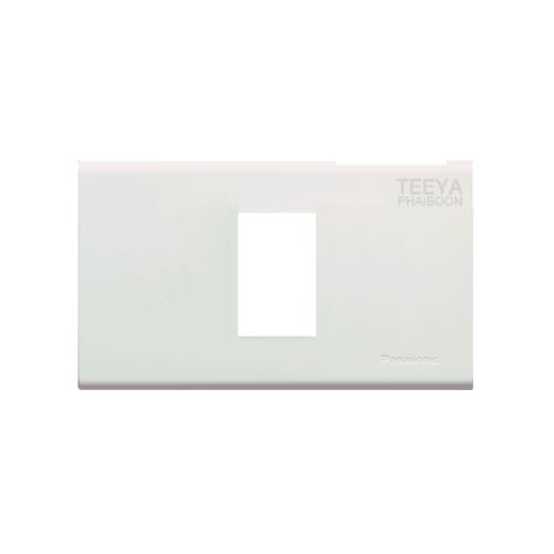 PANASONIC ฝาพลาสติก 1 ช่อง WEAG6801W นีโอไลน์ สีขาว