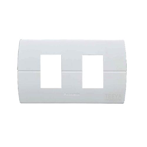 PANASONIC ฝาพลาสติก 2 ช่อง นิวโอไลน์ สีขาว