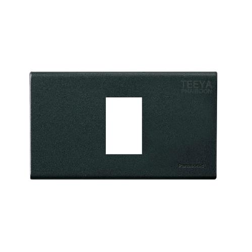 PANASONIC ฝาพลาสติก 1ช่อง WEG6801MB Metalic black
