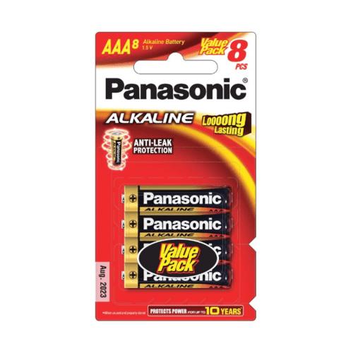 PANASONIC ถ่านอัลคาไลน์ LR03T/8B ''