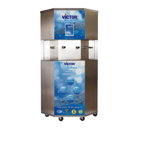 Victor เครื่องทำน้ำเย็นขนาด 4 ก๊อกพร้อมเครื่องกรองระบบ UF VT-1411 สีขาว