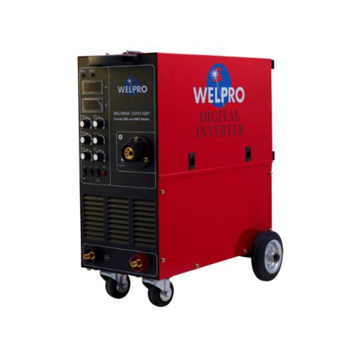 WELPRO เครื่องเชื่อม MIG-MMA250Y IGBT สีแดง