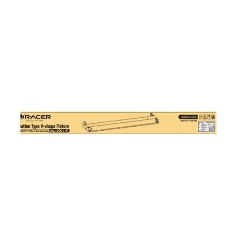 RACER โคมอกไก่่ ขนาด 2x18 (โคมเปล่า) V-shape Fixture (2x18 L-N) สีขาว