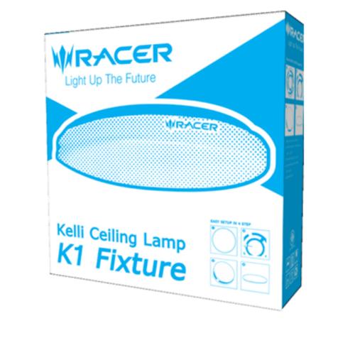 RACER โคมเพดาน แอลอีดี เค1  โคมเปล่า Kelli Ceiling Lamp K1 Fixture สีขาว