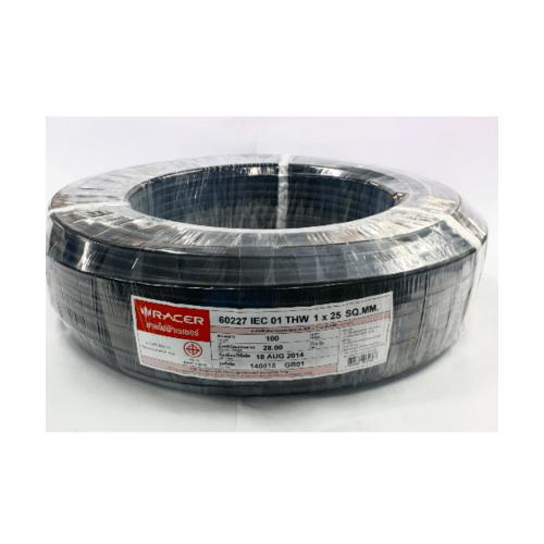 RACER สายไฟ IEC01 THW 1x25 100M ดำ 13201CA01210057