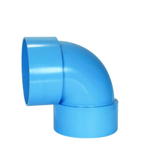 สามบ้าน ข้องอฉาก 90 องศา  ท่อ PVC  อย่างบาง 300 มม.12นิ้ว สีฟ้า