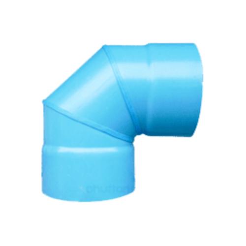 สามบ้าน ข้องอ 90 องศาเชื่อม PVC ขนาด 250 มม.  CL8.5 สีฟ้า