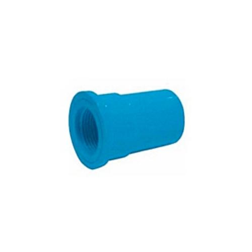 สามบ้าน ข้อต่อตรงเกลียวใน PVC  ขนาด 1/2 นิ้ว แบบหนา สีฟ้า