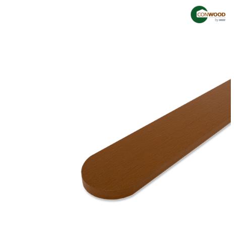 CONWOOD ไม้รั้ว  หัวมนพฤกษา หน้า4นิ้ว หนา1.6มิล ยาว1.0เมตร สีสัก