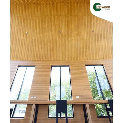 CONWOOD ไม้ตกแต่งผนังคอนวูด หน้า 8 นิ้ว รุ่นริธึ่ม ยาว1.50เมตร ลายเสี้ยน สีธรรมชาติ