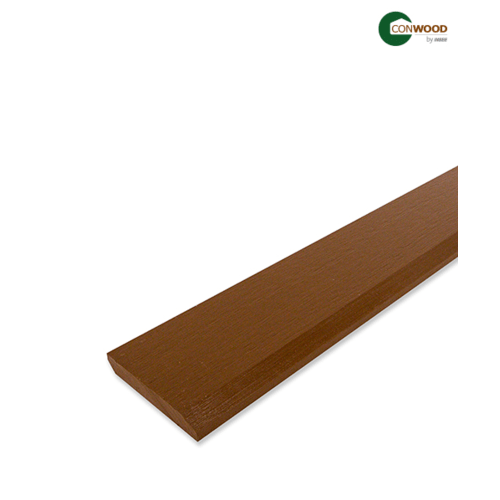 CONWOOD ไม้บัวพื้น-คอนวูด ลายคลาสสิค  1.1x10x305ซม. สีไม้สัก