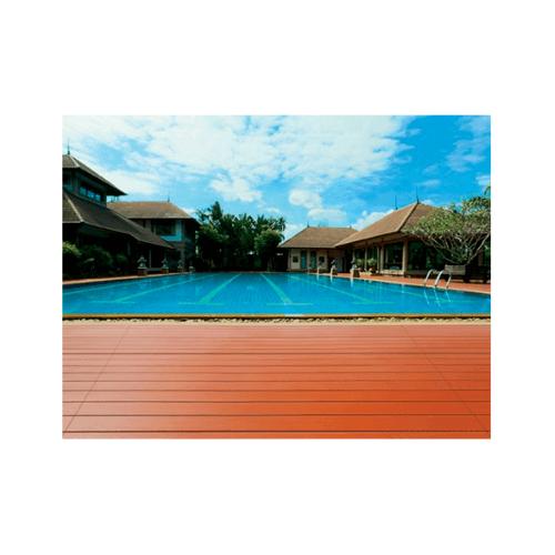 CONWOOD ไม้พื้นคอนวูด รุ่นใหญ่ลายเสี้ยน2.0x120x240ซม.เซาะร่องหน้า4นิ้ว สีธรรมชาติ  Giant Groove 4