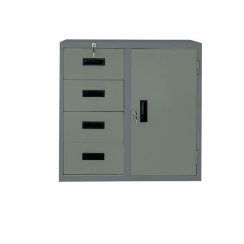KING STAR ตู้ 1 บานประตู้ 4 ลิ้นชัก RD-104 สีเทา