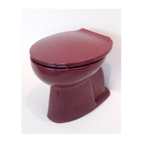 สุขภัณฑ์นั่งราบราดน้ำ  EC-007 Burgundy แดง