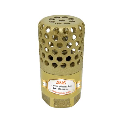 ANA ฟุตวาล์วรังผึ้ง  3/4 นิ้ว  ก5F159-1-020-006-5-0      สีทอง