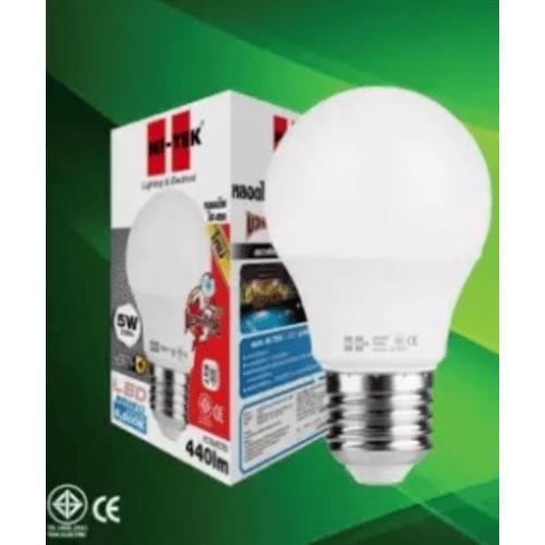HI-TEK หลอด LED มวยไทย Series  ขั้วเกลียว E27 5W แสงขาว HLLM27005D