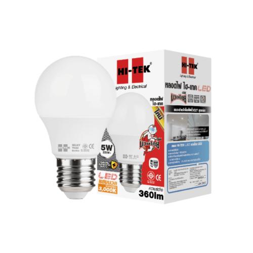 HI-TEK หลอด LED  มวยไทย SERIES ขั้วเกลียว E27 5W แสงนวล HLLM27005W