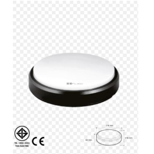 HI-TEK  โคมไฟ LED ทรงกลม 15W IP54 แสงขาว  HFOLRB015D  สีดำ