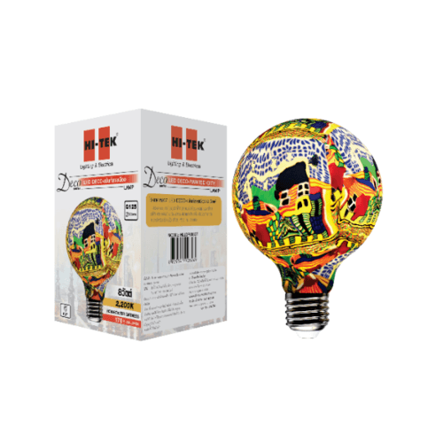 HI-TEK  หลอด LED เพนท์ลายเมือง 8W E27  Deco Series