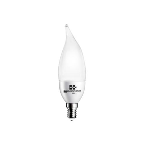 HI-TEK หลอดจำปาทรงเปลวเทียน LED 4W. E14 HLLCE0504W
