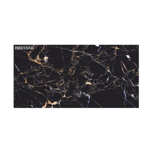 WDC กระเบื้องปูพื้น ไบดาซาร์ แบล็ค (ไฮ กลอส) สีดำ