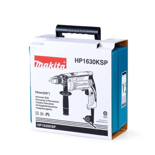 MAKITA สว่านกระแทก HP1630KSP ฟ้า-ดำ
