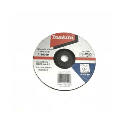 MAKITA แผ่นเจียร์ 7นิ้วx6มิล-หนา A36(A-80949)