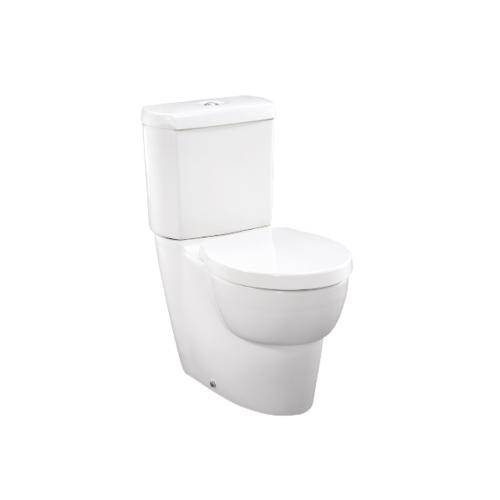 KOHLER สุขภัณฑ์แบบสองชิ้น ใช้น้ำ 2.6/4 ลิตร โอฟ พร้อมฝารองนั่งแบบกันกระแทก (ท่อแบบลงพื้น) สีขาว