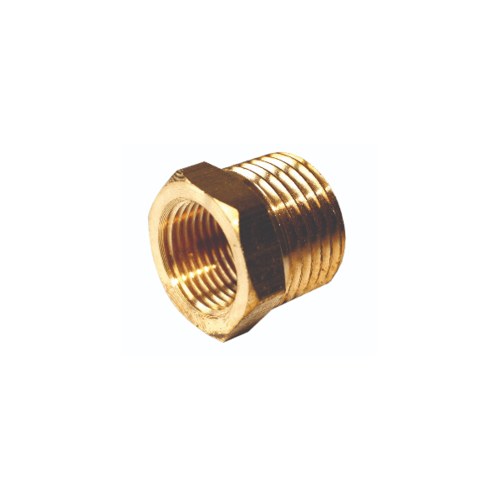 EUROX บูชชิ่ง (ข้อต่อลดทองเหลืองเกลียว) 4-3 หุน ทอง