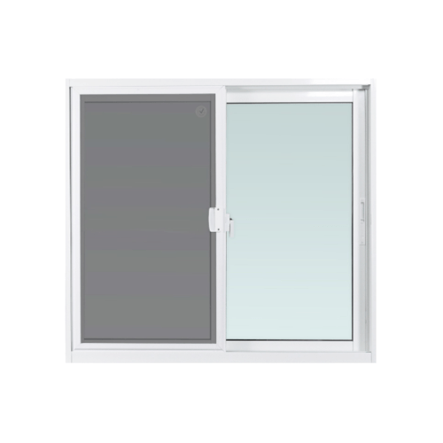 ENZO หน้าต่างบานเลื่อน ขนาด 120x110 cm. พร้อมมุ้งลวด กระจกเขียว 5 มม. EZ-SS1211 สีขาว