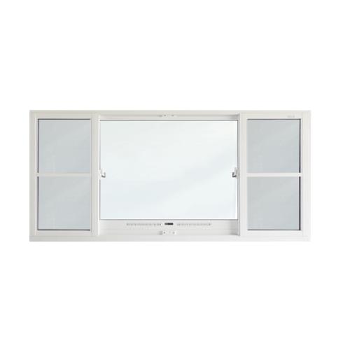 SankyoAlumi หน้าต่างอลูมิเนียมบานเลื่อน ช่องระบายอากาศพร้อมมุ้งลวด JW7-SFS1124-W5G สีขาว