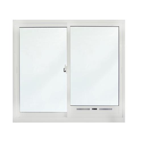 SankyoAlumi หน้าต่างอลูมิเนียมบานเลื่อน ช่องระบายอากาศพร้อมมุ้งขนาด 1200x1100มม. JW7-SS1112-W5G สีขาว