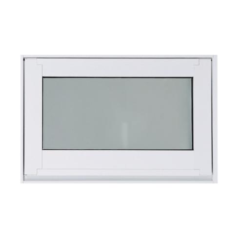 SankyoAlumi หน้าต่างอลูมิเนียมบานกระทุ้ง พร้อมมุ้ง ขนาด 60x40ซม. JW7-A0604-W5P สีขาว