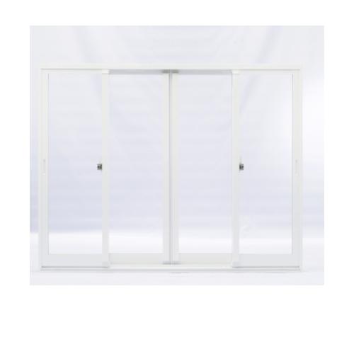 EZY WINDOW  ประตูอลูมิเนียมบานเลื่อน SSSS  ขนาด275x255ซม.พร้อมมุ้งลวด สีขาว