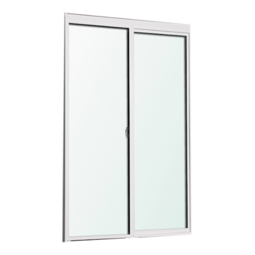 SankyoAlumi ประตูบานเลื่อนอลูมิเนียม ขนาด 2050x2000mm. JD10-SS2020-W5G สีขาว