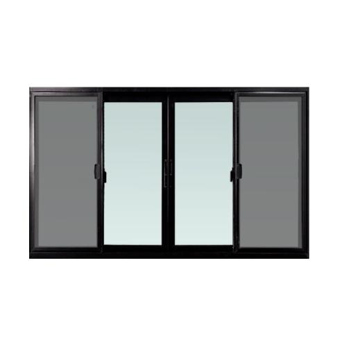 ENZO หน้าต่างบานเลื่อน กว้าง1800*สูง 1100 กระจกเขียว 5 mm.   FSSF พร้อมมุ้งลวด สีดำ