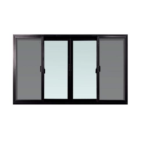 TRUSTAND (EZY WINDOW) ประตูบานเลื่อน  ขนาด 3200*2000มม.  พร้อมมุ้งลวด D-FSSF Enzo สีดำ