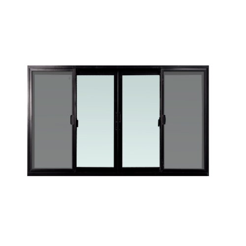 TRUSTAND (EZY WINDOW) หน้าต่างบานเลื่อน W-FSSF ขนาด 1800*1300  พร้อมมุ้งลวด Enzo สีดำ