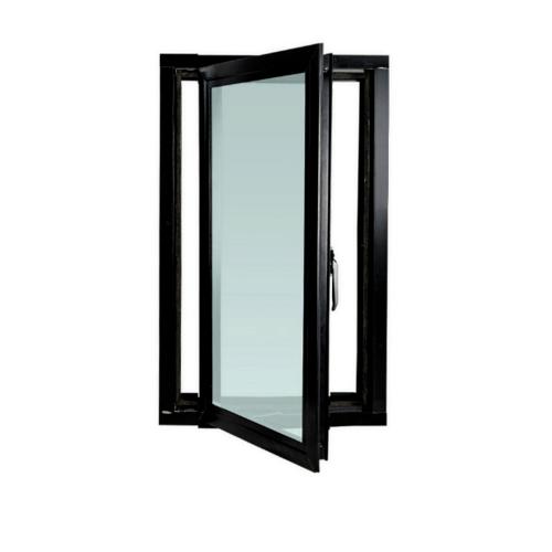 ENZO หน้าต่างอะลูมิเนียมบานเปิด ขนาด 600x1450มม. พร้อมมุ้งลวด ENZO Casement 1406 สีดำ