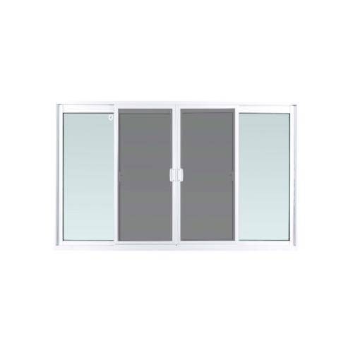 ENZO หน้าต่างบานเลื่อน ขนาด 180x110 cm. พร้อมมุ้งลวด กระจกเขียวหนา 5 mm EZ-FSSF1811 สีขาว