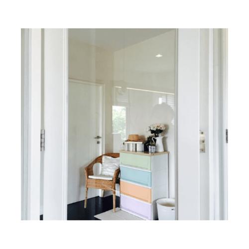 SUMO ตู้ลิ้นชัก 4ชั้น  SUMO-WOODTOP (vintage) สีขาว