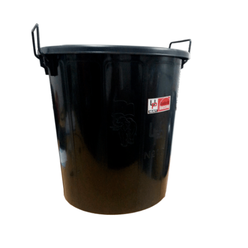 UP ถังน้ำพร้อมฝาUP 38ลิตร UP Heavy สีดำ