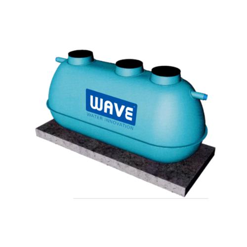 WAVE ถังบำบัดน้ำเสียไฟเบอร์กลาสชนิดเติมอากาศ  WSA-387 สีเขียว