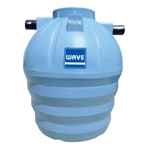 WAVE ถังบำบัดน้ำเสียชนิดรวมไร้อากาศ รุ่น WP-600 ลิตร สีเทา