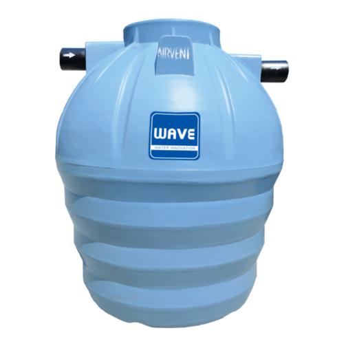 WAVE ถังบำบัดน้ำเสียชนิดรวมไร้อากาศ รุ่น WP-800 ลิตร สีเทา