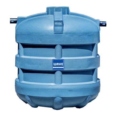 WAVE ถังบำบัดน้ำเสียชนิดรวมไร้อากาศ รุ่น WP-6000 ลิตร สีเทา