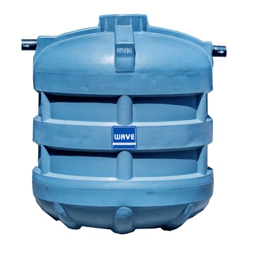 WAVE ถังบำบัดน้ำเสียชนิดเติมอากาศ รุ่น WFF-4000 ลิตร สีเทา